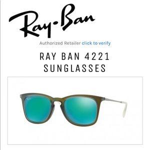 Unisex Ray-Ban 4221 Mirrored Sunglasses